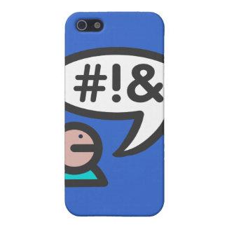 Lenguaje grosero del icono del usuario del ordenad iPhone 5 carcasas