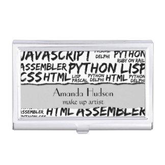 Lenguajes de programación (Java, Pascal) - negro Caja De Tarjetas De Presentación