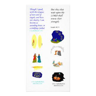 Lenguas de ángeles - tarjeta de KJV de la señal de Tarjeta Fotografica