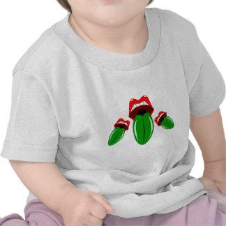 Lenguas irlandesas verdes camisetas