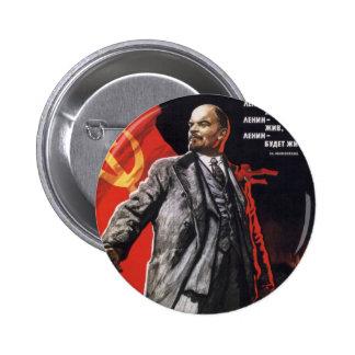 Lenin - comunista ruso pin redondo de 2 pulgadas