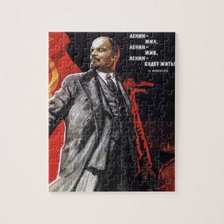 Lenin - comunista ruso rompecabeza con fotos