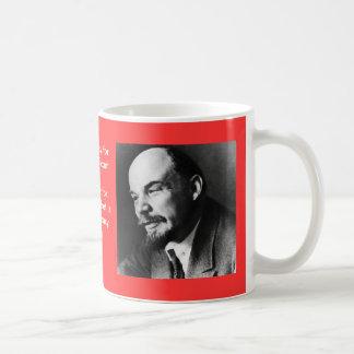 Lenin en perfil taza de café