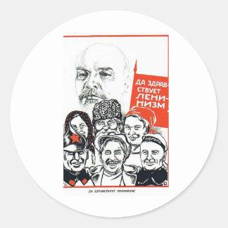 lenin father of communism classic round sticker