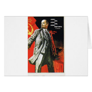lenin father of soviet union greeting card