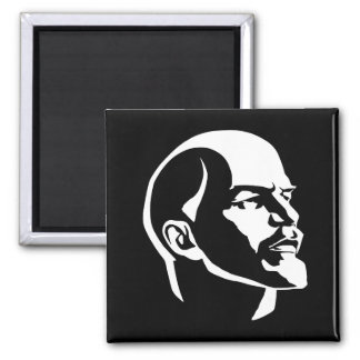 Lenin Head 2 Inch Square Magnet