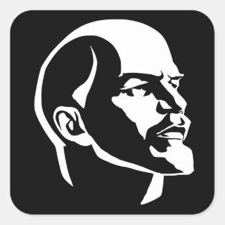 Lenin Head Square Sticker