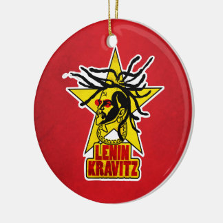 LENIN KRAVITZ SUCKS SAID EDITION Double-Sided CERAMIC ROUND CHRISTMAS ORNAMENT