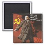 Lenin Lived Obama Lives 2 Inch Square Magnet