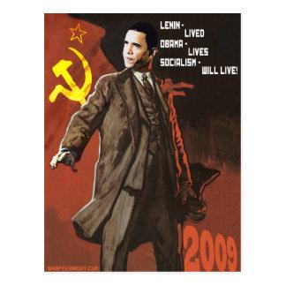 Lenin Lived Obama Lives Postcard