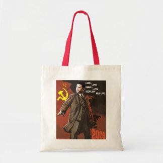 Lenin Lived Obama Lives Tote Bag