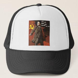 Lenin Lived Obama Lives Trucker Hat