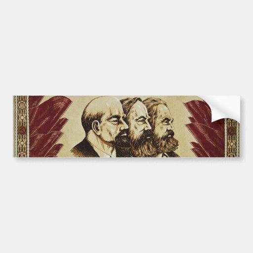Lenin Marx Engels socialist bumper sticker