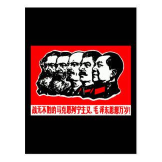 Lenin Marx Mao Zedong Postcard