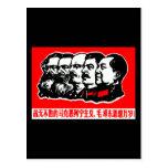 Lenin Marx Mao Zedong Tarjetas Postales