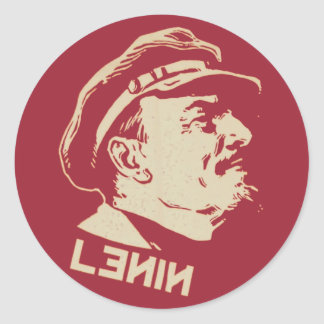 Lenin Pegatina Redonda