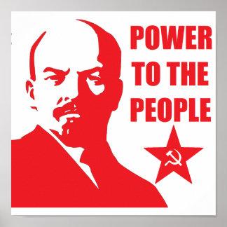 "Lenin ""poder poster de la gente"""