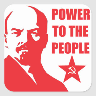 """Lenin """"Power to the People"""" Stickers"""