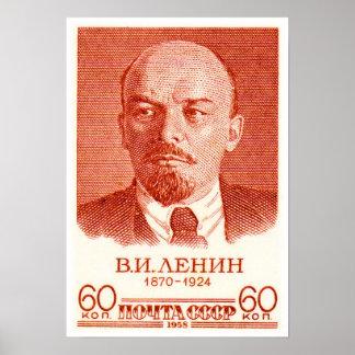 Lenin Red Poster