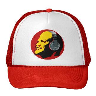 """""""Lenin rojo con gorra del camionero de los auricul"""