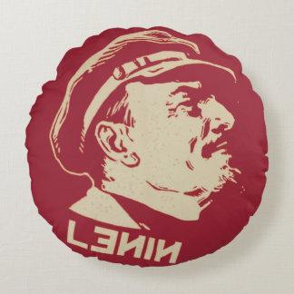 Lenin Round Pillow