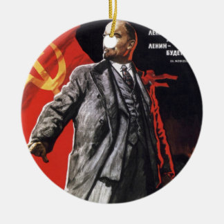 Lenin - Russian Communist Ceramic Ornament