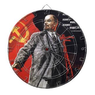 Lenin - Russian Communist Dartboard With Darts