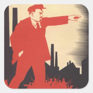Lenin Square Sticker
