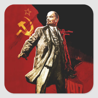 Lenin Square Sticker