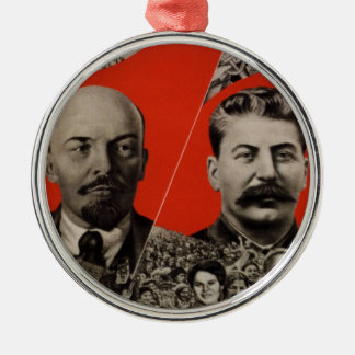 Lenin & Stalin Communist Propaganda Metal Ornament