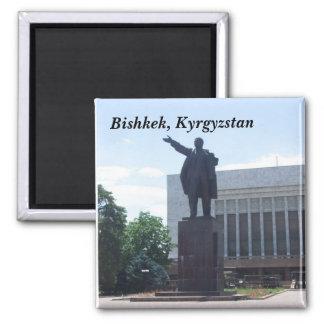 Lenin Statue, Bishkek, Kyrgyzstan 2 Inch Square Magnet