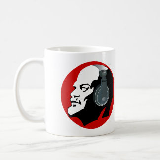 LENIN WITH HEADPHONES (RED) Classic White Mug