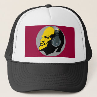 LENIN WITH HEAPHONES Trucker Hat