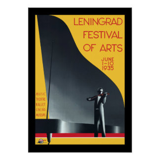 Leningrad Festival of the Arts Poster