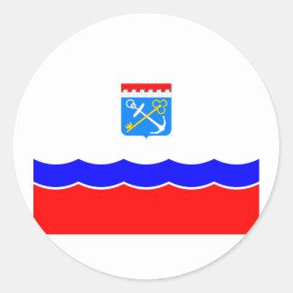 Leningrad Oblast, Rusia Etiquetas Redondas