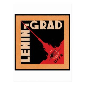Leningrad Travel Poster Postcard