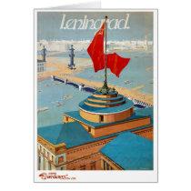 Leningrad USSR Vintage Poster Restored