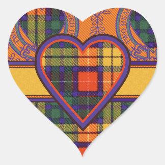 Lennie clan Plaid Scottish kilt tartan Heart Sticker