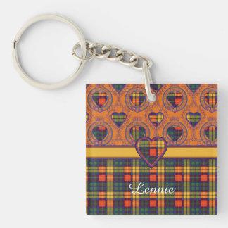 Lennie clan Plaid Scottish kilt tartan Keychain