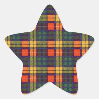 Lennie clan Plaid Scottish kilt tartan Star Sticker