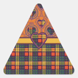 Lennie clan Plaid Scottish kilt tartan Triangle Sticker