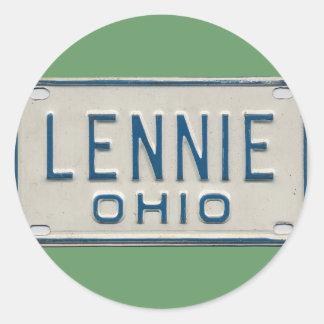 LENNIE OHIO CLASSIC ROUND STICKER