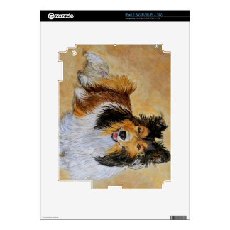 Lennie the Sheltie Decals For iPad 2