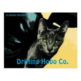 Lennon Cat Postcard Drifting Hobo co.