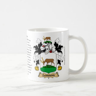 Lennon Family Coat of Arms (Crest) including the O Coffee Mug