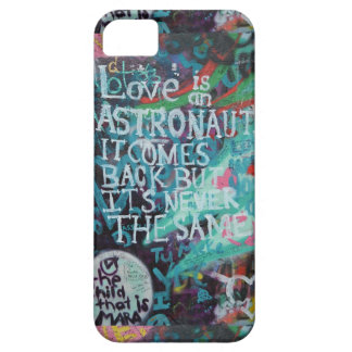 Lennon Wall, Love is like an astronaut graffiti iPhone 5/5S Covers