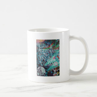 Lennon Wall, Love is like an astronaut graffiti Coffee Mugs