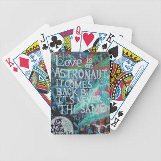 Lennon Wall, Love is like an astronaut graffiti Bicycle Card Deck