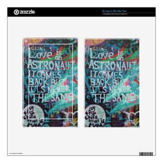 Lennon Wall, Love is like an astronaut graffiti Kindle Fire Decal