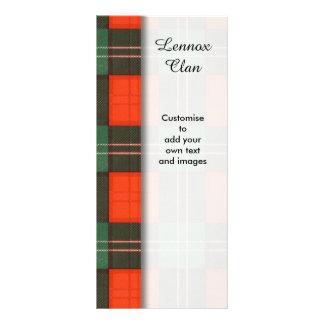 Lennox clan Plaid Scottish tartan Rack Card